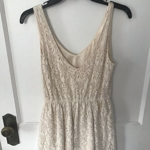 dELiA*s Dresses - ivory lacy swing dress / Delia's size small